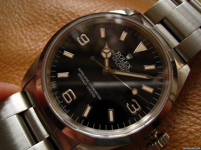 Rolex 14270  X-serial Patina Tritium Dial Explorer 1 ~ nice