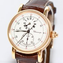 Chronoswiss Chronoscope Chronograph Gold Uhr CH1521R Papiere...