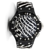 Hublot [NEW][250] Big Bang Zebra Diamond Dial Ceramic Ladies...