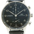 IWC Portuguese Chronograph Automatic 41mm Black Dial IW371438...
