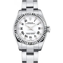 Rolex Oyster Perpetual 26 176234-WHTRDO White Roman Set with...