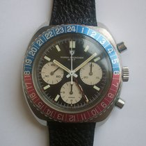 Nivada Grenchen GMT Three Registers Chronograph