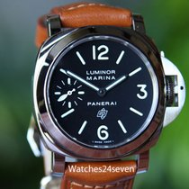 Panerai PAM 005 S Luminor Marina w Logo Dial & Second Hand...