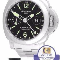 Panerai PAM 297 P Luminor GMT Stainless Steel 44mm Watch PAM00297