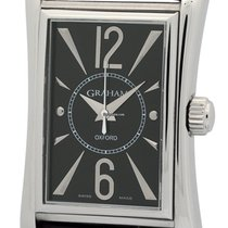 Graham Oxford Stainless Steel Black Dial 26mm