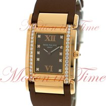 Patek Philippe Twenty-4 Medium Ladies, Chocolate Dial, Diamond...