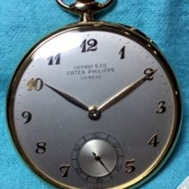 Patek Philippe Pocket Watch Open Faced Tiffany Yellow Gold 652