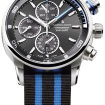 Maurice Lacroix Pontos S Chronograph, Black and Blue Textile...