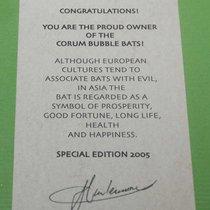 Corum certificate of limitation bubble bats 2005