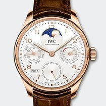IWC PORTOGHESE CALENDARIO PERPETUO RED GOLD 18K Silver Dial