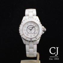 Chanel J12 33mm White Ceramic Ladies Diamond Dial