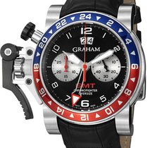 Graham Chronofighter Oversize GMT Steel Chronofighter Oversize...
