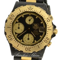 TAG Heuer 3000 Professional Quartz Black & Gold Plated New...