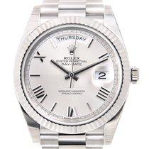 Rolex Day-date 18k Platinum Silver Automatic 228239SVRN