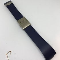 Ulysse Nardin Marine Navy Blue Rubber Strap with Titanium...
