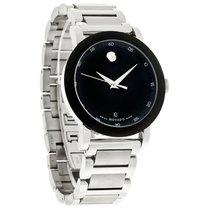 Movado Museum Sport Mens Black Dial SS Swiss Quartz Watch 0606604