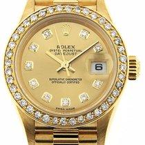 Rolex Datejust President 79178 18k Yellow Gold Diamond Bezel...