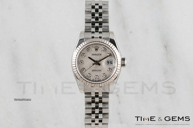Rolex Stainless Steel Silver Jubilee Diamond Dial Fluted Bezel Datejust 2005