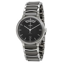 Rado Men's Centrix Black Dial Black Ceramic Watch