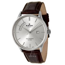 Edox Men's Les Vauberts Day Date Automatic Watch