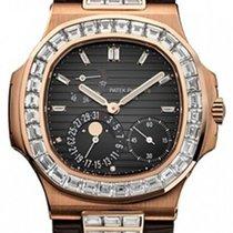 Patek Philippe 5724R-001 Nautilus 40mm Black Baguette Diamond...