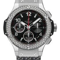 Hublot Big Bang Stainless Steel Rubber Diamonds Automatic...