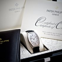 Patek Philippe Gondolo Men's Platinum Watch Black Leather...