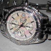 Breitling Evolution Chronomat MOP Steel Automatic Diamonds