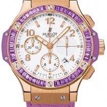 Hublot Big Bang Gold Tutti Frutti Purple 18K Rose Gold Leather...