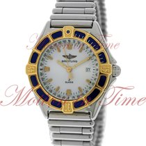 Breitling Windrider Ladies J Class, White Dial, 18kt Yellow...