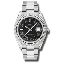 Rolex Datejust II 41mm - Steel and Gold White Gold - Fluted...