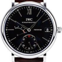 IWC Portofino Hand Wound Eight Days 45mm IW510102 Black Dial