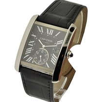Cartier W5330004 Tank MC with Small Seconds - Steel on Leather...