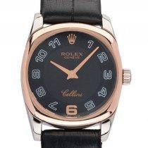 Rolex Cellini Danaos Lady 18kt Weißgold Roségold Quarz Armband...