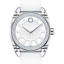 Movado Master Diamond Ladies Watch - White Dial - White Rubber...