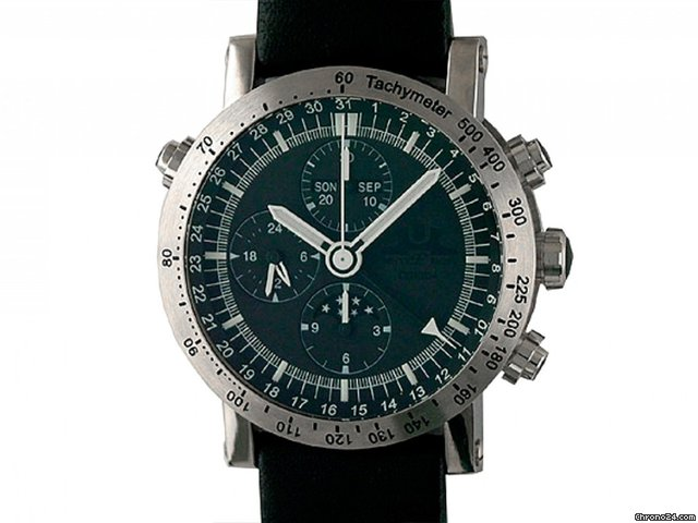 Temption Chronograph CGK204 Automatic Black Vollkalender Mondphase 43mm