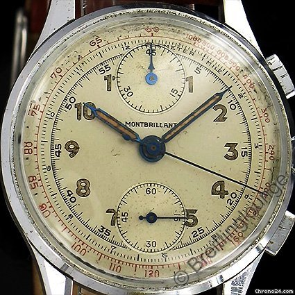 Breitling - Montbrillant antiker Armband - Chronograph aus 1945