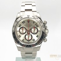 Rolex Cosmograph Daytona Weissgold Silver Dial 116509