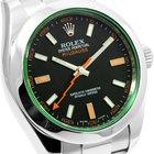 Rolex Milgauss Green Crystal 116400GV w/ Rolex Card