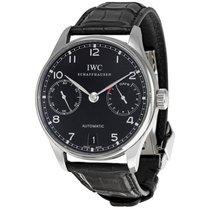 IWC Portuguese Automatic Black Dial Steel Black Men's Watch