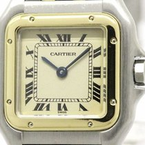 Cartier Panthere 18k Gold Steel Quartz Ladies Watch 1057917...