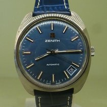 Zenith vintage automatic rare blue dial ref 01-1291-380 cal 2572