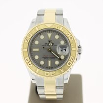 勞力士 (Rolex) YachtMaster 29mm Steel/Gold (B&P2010) SiverDia...