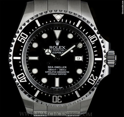 Rolex S/S Black Dial Deepsea Sea-Dweller B&P 116660