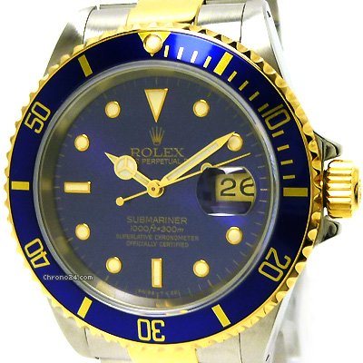 Rolex Submariner 16613 (116613) Oro Acciaio Gold FULL SET