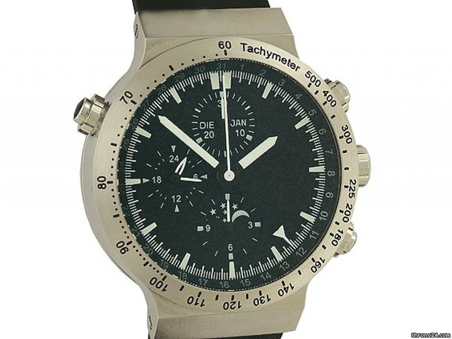 Temption Chronograph CGK205 Automatic Vollkalender Mondphase Kautschuk 43mm Neu