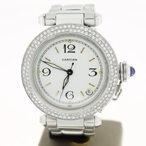 Cartier Pacha Steel Automatic (B&P2002) Afterset Diamonds...