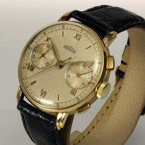 Angelus seltener Chronograph 18K Gold, 36 mm, ca. von 1937