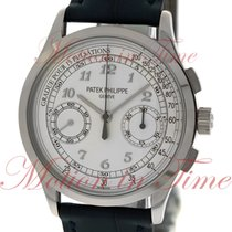 Patek Philippe Chronograph, Silver Dial - White Gold on Strap