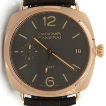 Panerai Radiomir GMT PAM00421 18K Solid Rose Gold